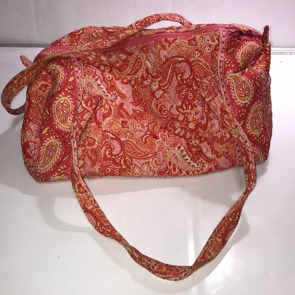 Vera Bradley Handbags - Vera Bradley Pink and Orange Duffle Bag Cute♥️♥️♥️